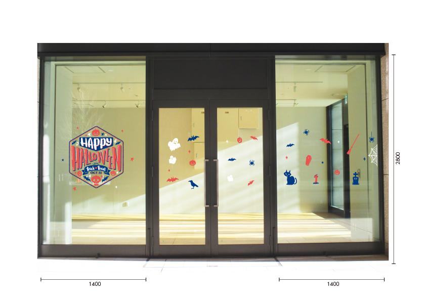 【VP】ハロウィンタイトル ヘキサゴンの施工写真