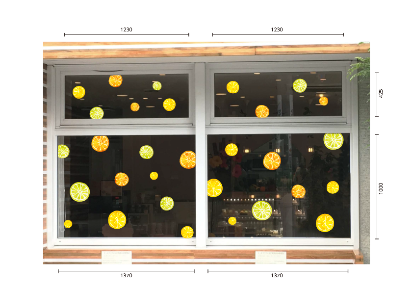 【VP】オレンジ&レモンの施工写真