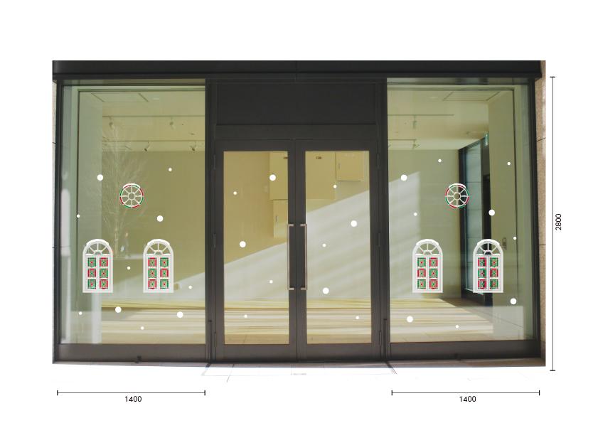【VP】クリスマスの小窓の施工写真