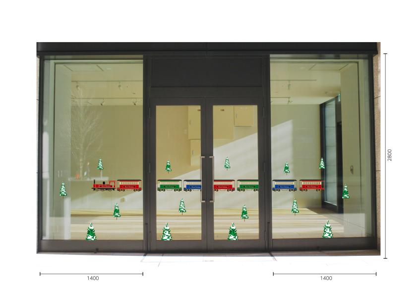 【VP】クリスマストレインの施工写真