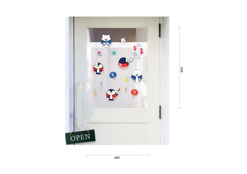 【PP】しろくま&ペンギンたまごの夏祭りの施工写真